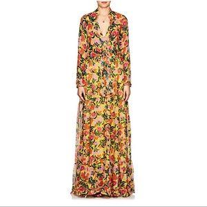 Saloni maxi floral dress